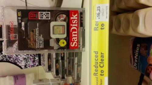 Sandisk 32gb 4k memory card £16.25 @ Tesco - Dunedin
