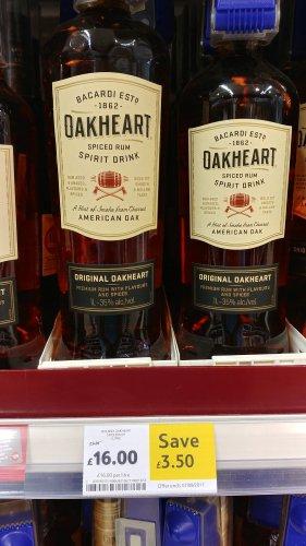 Bacardi Oakheart Spiced Rum 1Ltr £16.00 @ Tesco (Instore & Online)