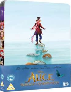 Alice Through The Looking Glass - 3D & 2D steelbook £7.99 / £9.98 delivered @ Zavvi