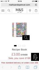 M&S Recipe Book/Diary £3 free C&C