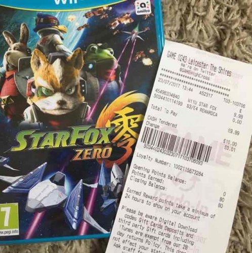 starfox zero wii u £9.99 @ game instore