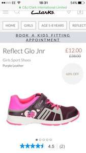 Girls Clarks Reflect Glo Jnr trainers free C&C  £12