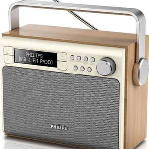 Philips Portable Vintage FM and DAB Radio - Wood £39 (with code)@ Tesco