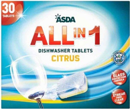 All in 1 dishwasher tablets x 30 £1.50 @ Asda