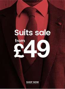Suits Sale from £49 @ Burton and Free Delivery on orders £30+