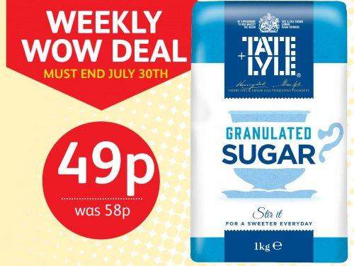 Tate & Lyle 1kg Granulated Sugar 49p was 58p @ Poundstretcher