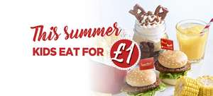 Kids Meal Bundle (main, 2 sides, dessert and drink) just £1 with Adult Main Meal Purchase (prices from £6.45) All Day Every Day @ Frankie & Benny's ( + Kids Eat Free Fridays)