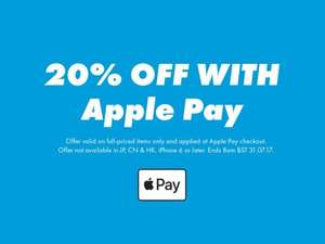 20% off at ASOS using Apple Pay