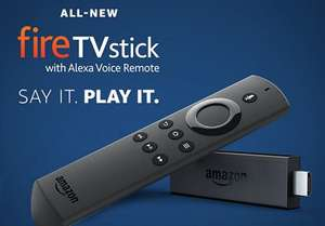 All-New Fire TV Stick with Alexa Voice Remote | Streaming Media Player | In case you missed in Prime Day £33.99 @ Amazon