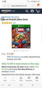 Marvel Pinball (Xbox One) £14.99 prime / £16.98 non prime @ Amazon