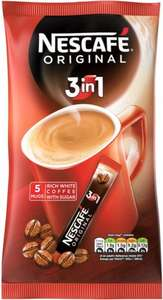 Nescafe Original 3in1 Instant Coffee Sachets (5 x 17g) was £1.20 now 60p (Rollback Deal) @ Asda