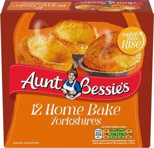Aunt Bessie's Home Bake Yorkshire Puddings (12 = 370g) was £1.50 now £1.00 @ Asda