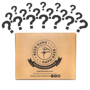 Mystery Case of 15 Beers from Beer Hawk £25.00 plus £4.99 del or free if spend £50
