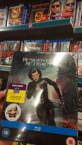 resident evil retribution blu-ray steelbook £1 in poundland