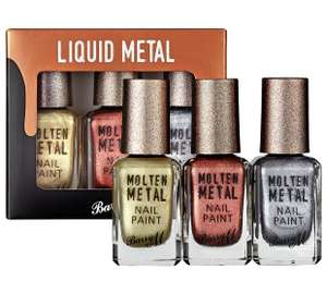 Barry M Cosmetics Molten Metals Nail Paint Set - 3 Pack now £4.99 at Argos