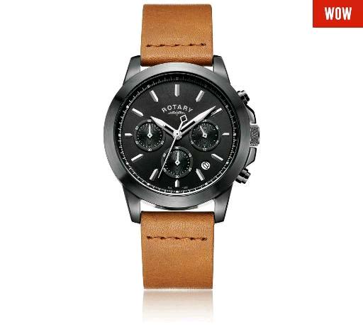 Men's black Rotary Chronograph watch £64.99 @ Argos