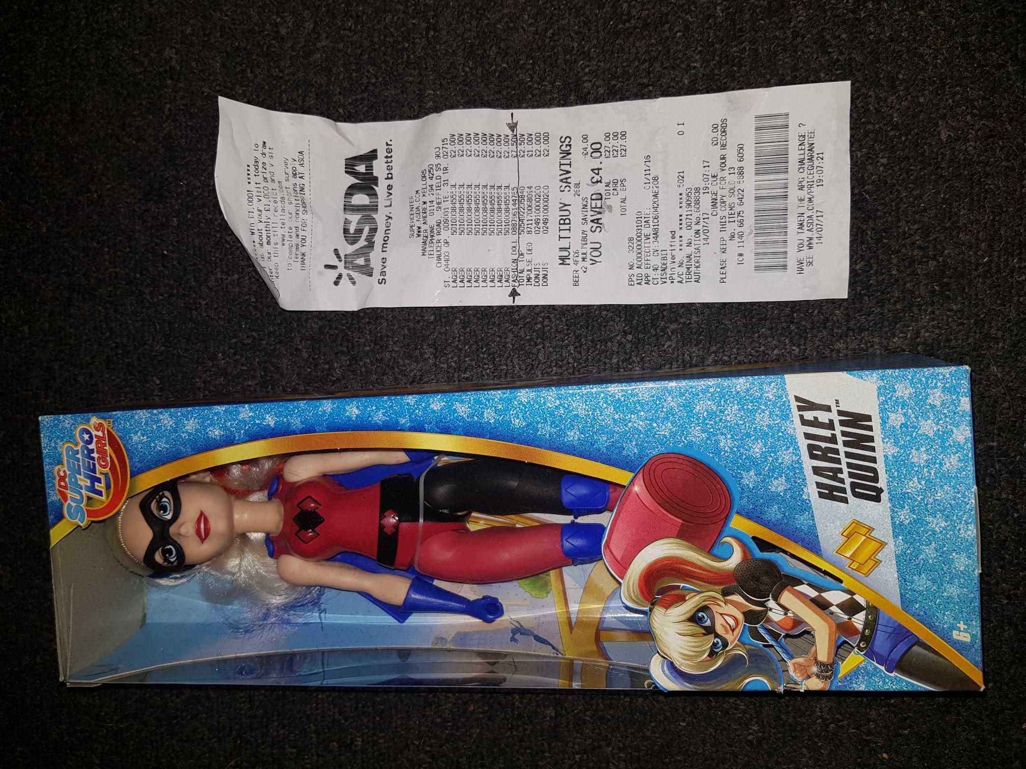 Harley Quinn doll  £7.50 ASDA instore