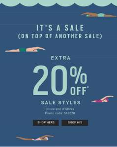 Fossil 20% off items that are already on sale @ Fossil