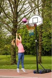 Basketball Net Height Adjustable, Backboard Hoop & Net, Reduced/Sale +20% off £31.99 @ Smyths