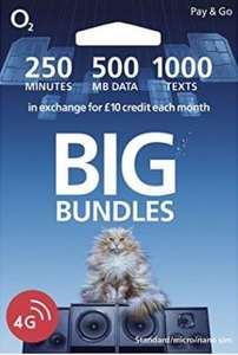 O2 The Big Bundle Pay As You Go Sim Card - 1p - Amazon add-on item
