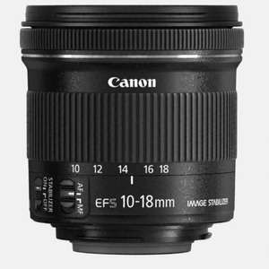Canon EF-S 10-18mm f/4.5-5.6 IS STM - Canon online store - £195 (with code)