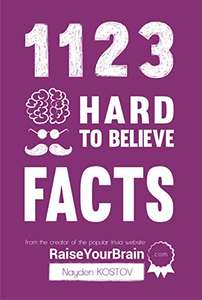 1123 Hard To Believe Facts: From the Creator of the Popular Trivia Website RaiseYourBrain.com (Paramount Trivia and Quizzes) Free Download @Amazon