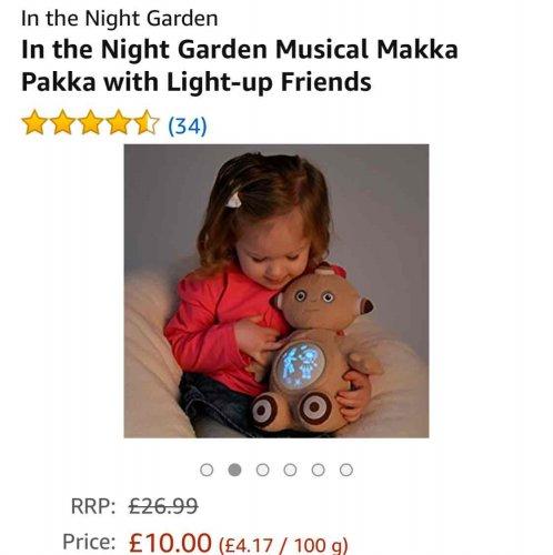 In the Night Garden Musical Makka Pakka £10 @ Amazon Prime (exclusive)
