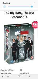 Big bang theory 1.19 but has 10 percent off making it 1.07 from music magpie