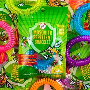 Mosquito Repellent Bracelets - 10 Pack - All Natural, Deet Free and Waterproof Bands for Adults and Children. TODAY ONLY - Sold by One Retail Group and Fulfilled by Amazon for £7.99 (Prime or £10.98)