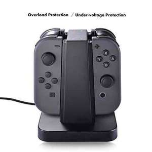 Nintendo Switch Joy Con Charger Dock, Sunix 4 in 1 Charging Stand + Sunix Tempered Glass Screen Protector (0.21mm) £10.46 with code @ Amazon