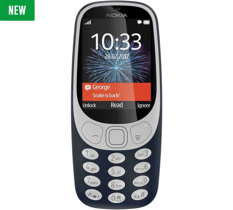 Nokia 3310 Mobile Phone - Grey Blue £38.99 In Stock @ Argos
