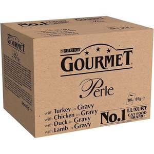 Cat food - Gourmet Perle Chef's Country Collection in Gravy, 96 x 85 g - £28.80 Del - Amazon