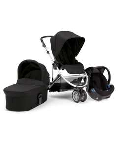 Zoom 4 piece travel system with carrycot, pushchair, carseat & adaptors was £536 now £284 delivered with code @ Mamas and Papas