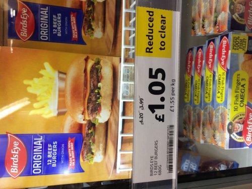 12 Birdseye beef burgers - £1.05 @ Tesco metro Newcastle