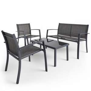 Vonhaus Textoline 4 Piece Garden Set with Table, 2 Chairs and Sofa (was £159.99) now £69.99 delivered + 2 year warranty @ Domu