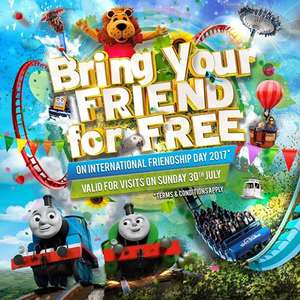 Bring a friend for free on International friendship day 30th July - 2 x adults £39 and 2 x 4 - 11 years olds £29 @ Drayton Manor