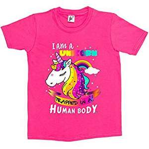 I Am A Unicorn Trapped In A Human Body Kids T-Shirt ages 3 - 14yrs £3.99 Del @ Amazon (sold by Snuggle) + Lots more in OP
