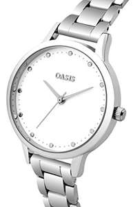 Oasis Ladies quartz watch with white dial and silver alloy bracelet was £17.71 now £6.49 delivered with Prime £10.48 non Prime @ Amazon