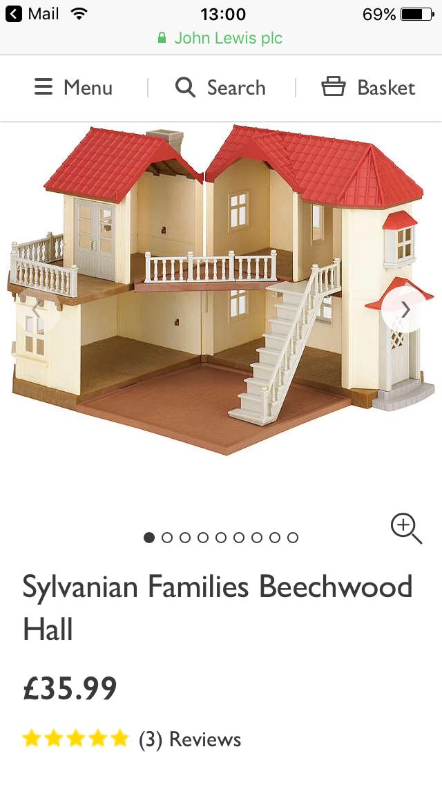 Sylvanian Families Beechwood Hall £35.99 John Lewis