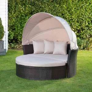 Venice Rattan Hooded Day Bed £199.99 @ B&M