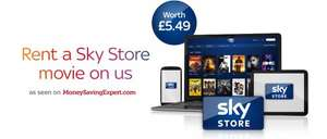Free Sky Store voucher worth £5.49 e.g. free movie rental  - don't need to be a Sky customer