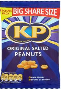 KP Original Salted Peanuts (450g) was £3.29 now £2.00 @ Tesco