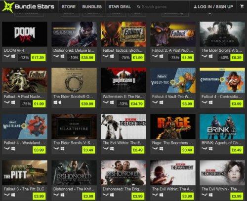Bethesda Softworks Sale @ Bundle Stars [Fallout, Doom, Skyrim]