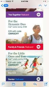 Railcard £5 off friend & family , two travel , 16-25 years £25