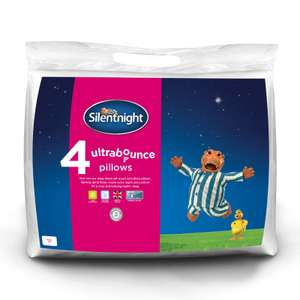 Pack of 4 Silentnight Ultrabounce Non-Allergenic Pillow With Hollowfibre Filling £14.99 Fast & Free Delivery eBay branded bedding