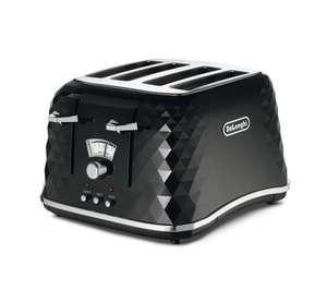 De'Longhi Brillante Toaster - Both Black and White reduced £34.00 (Free C&C) @ Tesco Direct