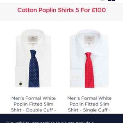 Hawes & Curtis 5 Poplin Shirts £100