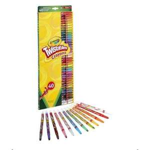 Crayola twistables 40 pack £5 Tesco free C&C also 50 washable markers £4.50 (both 1/2 price)