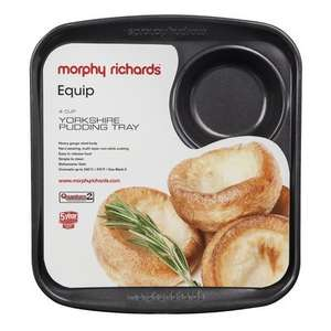 Morphy Richards 4 Cup Yorkshire Pudding Tray, Black £4.80 @ BHS online