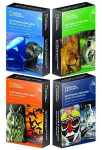 National Geographic 52 Picture Playing Cards 99p @ home bargains
